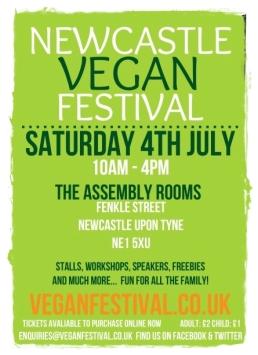 VeganFestivals2015NewcastleVeganFestivalPoster